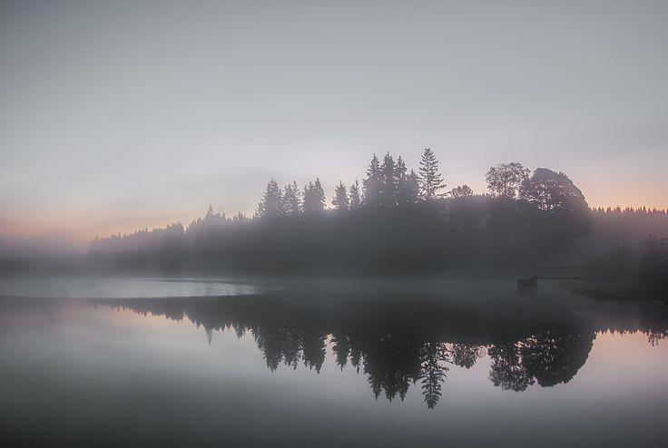 Nebliger Morgen am Rubener Teich by Leo Pöcksteiner