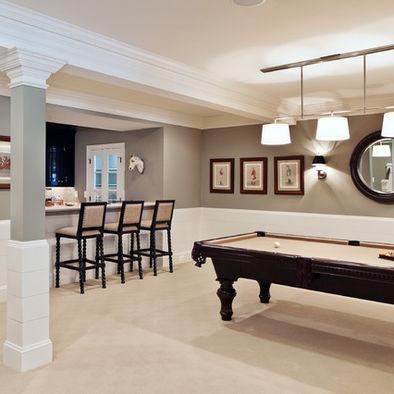 Unique Basement Pool Tables