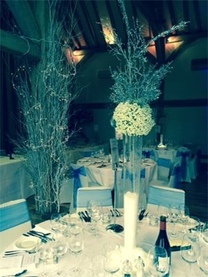 Winter Wonderland Centrepieces : Winter Theme Table Centrepiece