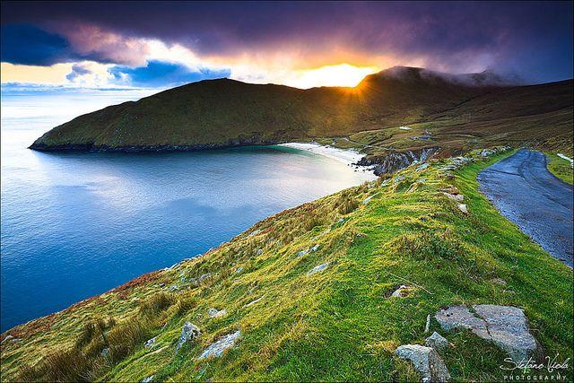 the sun setting on Achill Island ... Co. Mayo, Ireland. Beautiful photography by Stefano Viola