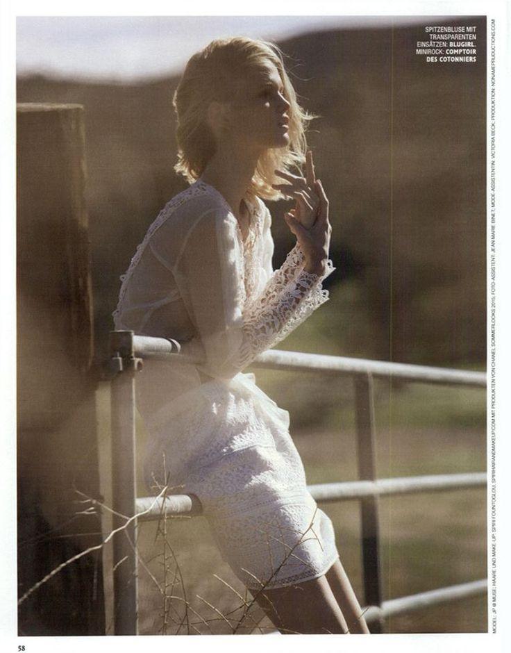 Best Editorials - Blugirl Spring Summer 2015 • Macramè lace blouse. • GRAZIA, Germany - April 16, 2015
