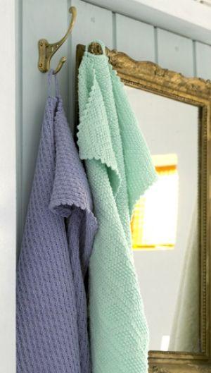 Håndklæder i strukturmønstre | Familie Journal