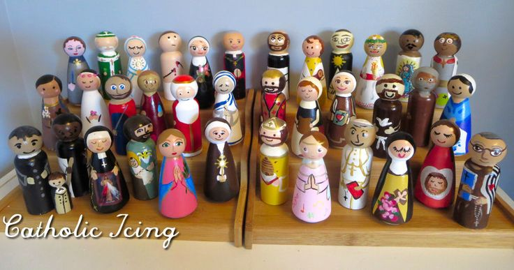 The Ultimate resource page for Catholic Saint peg dolls!