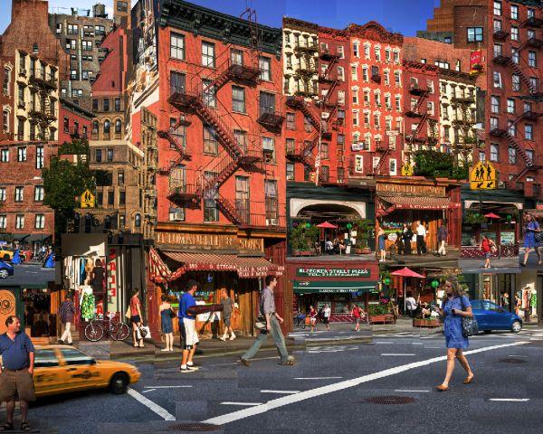 Iconic Bleeker Street Greenwich Village New York City