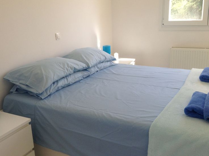 The upstairs blue bedroom - very calming and cool