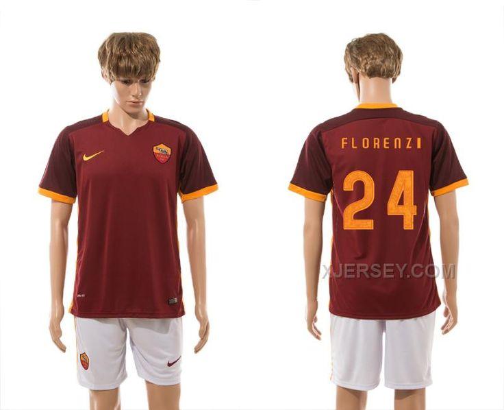 http://www.xjersey.com/201516-rome-24-florenzi-home-jersey.html 2015-16 ROME 24 FLORENZI HOME JERSEY Only $35.00 , Free Shipping!
