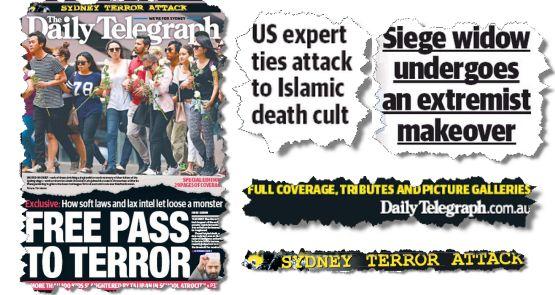 AUSTRALIAN MAIN STREAM MEDIA : Rundle: Monis was a criminal. The Tele made him a ...  http://www.crikey.com.au/2014/12/18/rundle-monis-was-a-criminal-the-tele-made-him-a-terrorist/