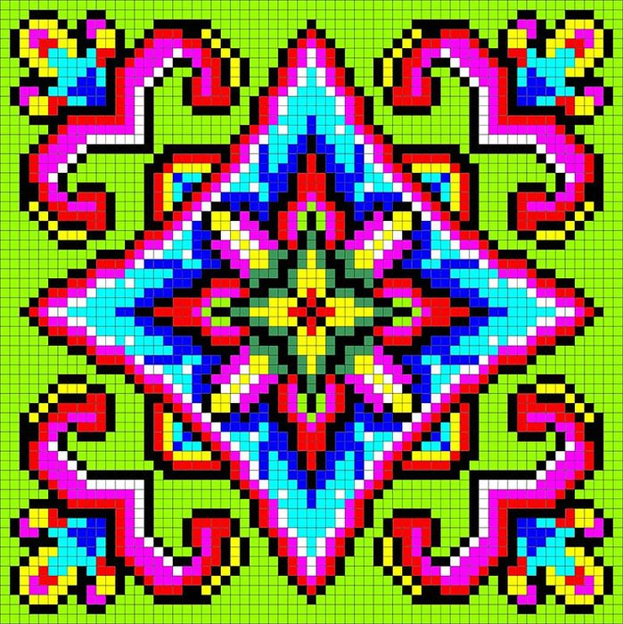 Mosaic perler bead pattern