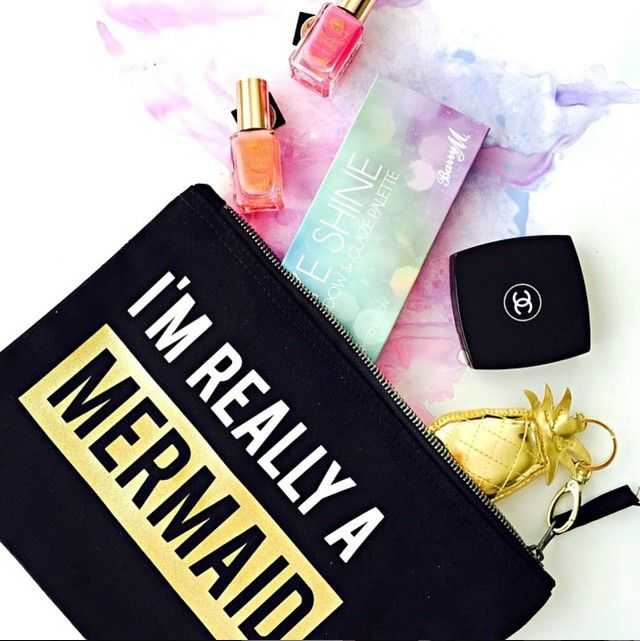 """Im really a Mermaid"" make up bag by Rock on Ruby. Interview with the ladies behind the brand..."