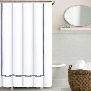 Echelon Home Three Line Hotel Collection Matelasse Shower Curtain By