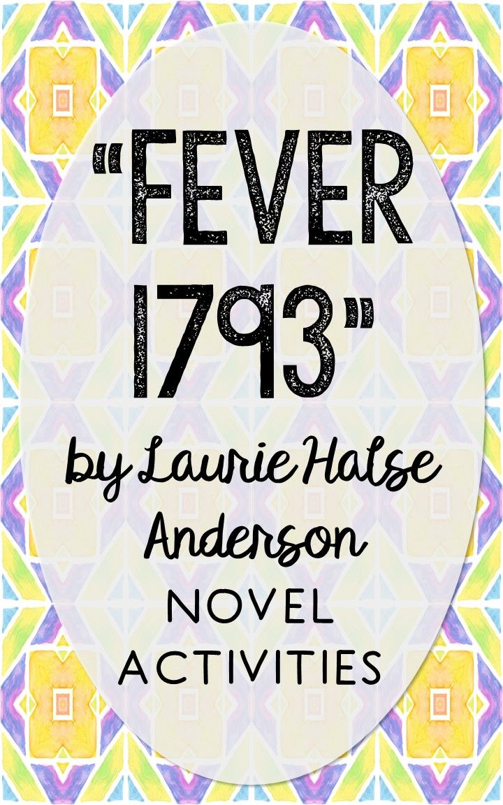 Fever 1793 by Laurie Halse Anderson. This print and go novel unit resource is perfect if you're looking for activities that are engaging and demonstrate comprehension WITHOUT multiple choice tests! This unit includes vocabulary terms, poetry, author biography research, themes, character traits, one-sentence chapter summaries, and note taking activities. You'll also find an author quote poster, a tri-fold bookmark, and character/vocabulary wall cards (plus EDITABLE cards!).