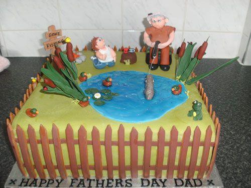 Torta per la festa del papà a tema pescatore