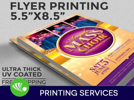 Flyer Printing UV Coated 1 Or 2 Sided By FourCPrint