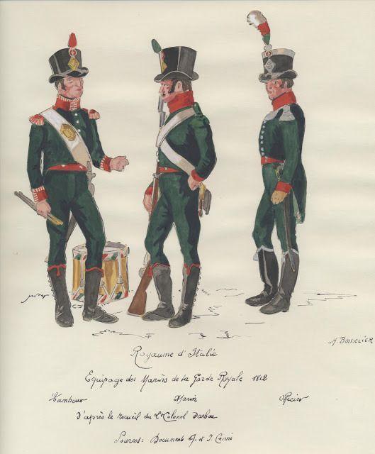 Tamburo, fuciliere e ufficiale degli equipaggi della Marina del regno d'Italia