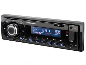 Som Automotivo Multilaser Talk P3214 Bluetooth - Mp3 Player USB Entrada p/ Cartão e Auxiliar