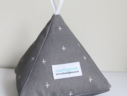 Pyramid Doorstop - Charcoal Plus