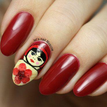 Thumb370f 31dnc red nails russian doll matrioshka                nails nailart beautiful nails         blogger nailblogger beautyblogger 1 1...