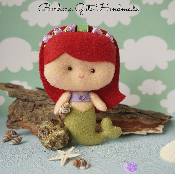 Barbara Handmade...: Mała Syrenka / The little Mermaid | Inspiration for a headband or a hair clip!!!