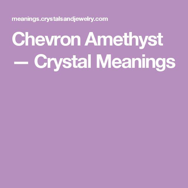 Chevron Amethyst — Crystal Meanings