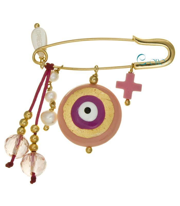 GREGIO Παιδική Παραμάνα από επιχρυσωμένο Ασήμι 925 | Παδικά Κοσμήματα, Βαπτιστικός Σταυρός, Δώρα - E-oro.gr