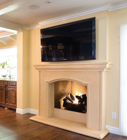Add warmth to your decor with Dominique Fireplace from Elegant Fireplace  Mantel http:// - 17 Best Images About The Estate Collection Fireplaces On Pinterest