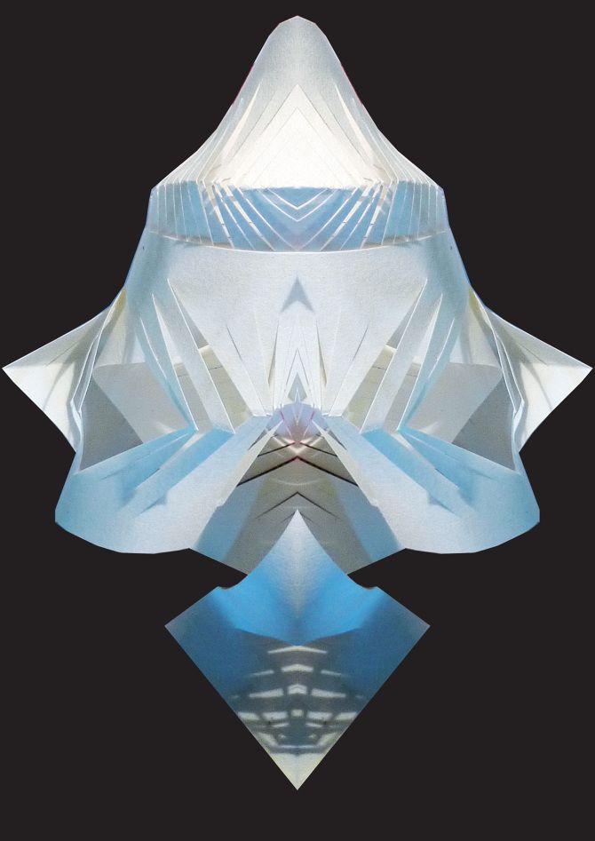 Paperfold illustration by Didde Kallshoej