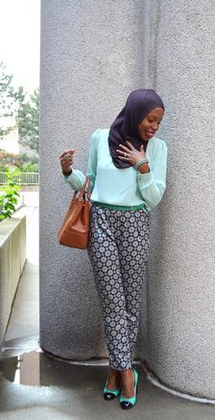 Blue Pants and Hijab | Hashtag Hijab