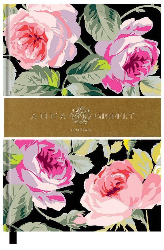 Lovely Anna Griffin Grace Black Floral Journal
