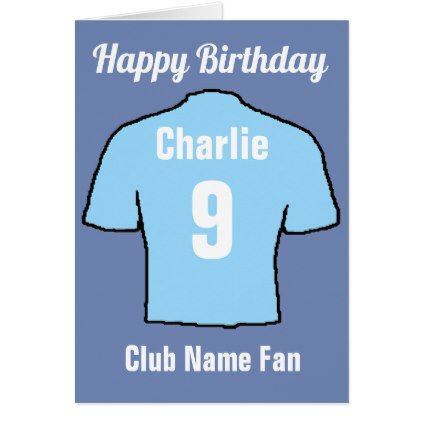 Football Club Shirts to Customise Card  $3.65  by NigelSutherland  - custom gift idea