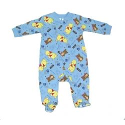 "Licensed Disney Pooh Bear ""My Little Teddy"" footed onesie.  Sizes 0000, 000, 00 & 0."