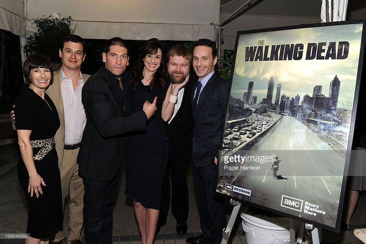 'The Walking Dead' Executive Producers Gale Anne Hurd, David Alpert, actor Jon Bernthal, actress Sarah Wayne Callies, Writer/Producer Robert Kirkman and actor Andrew Lincoln attend the Eleventh Annual AFI Awards at the Four Seasons Hotel on January 14, 2011 in Los Angeles, California.