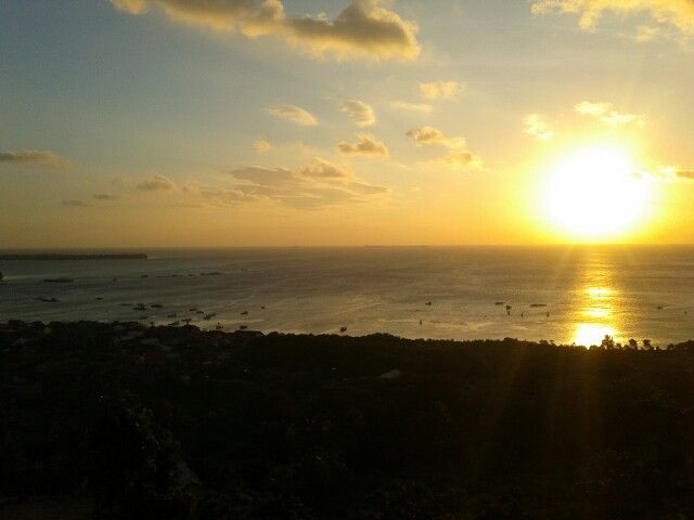 sunset in karimun java's island