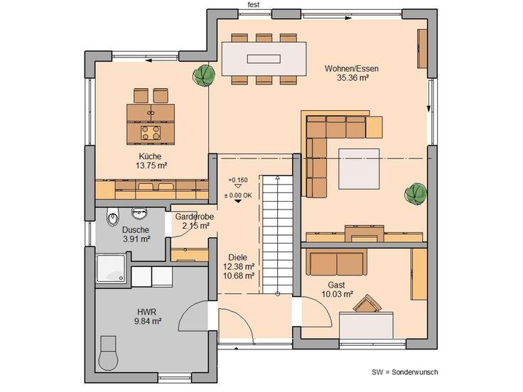 296 besten grundriss stadtvilla bilder auf pinterest hausbau anh nger und architektur. Black Bedroom Furniture Sets. Home Design Ideas