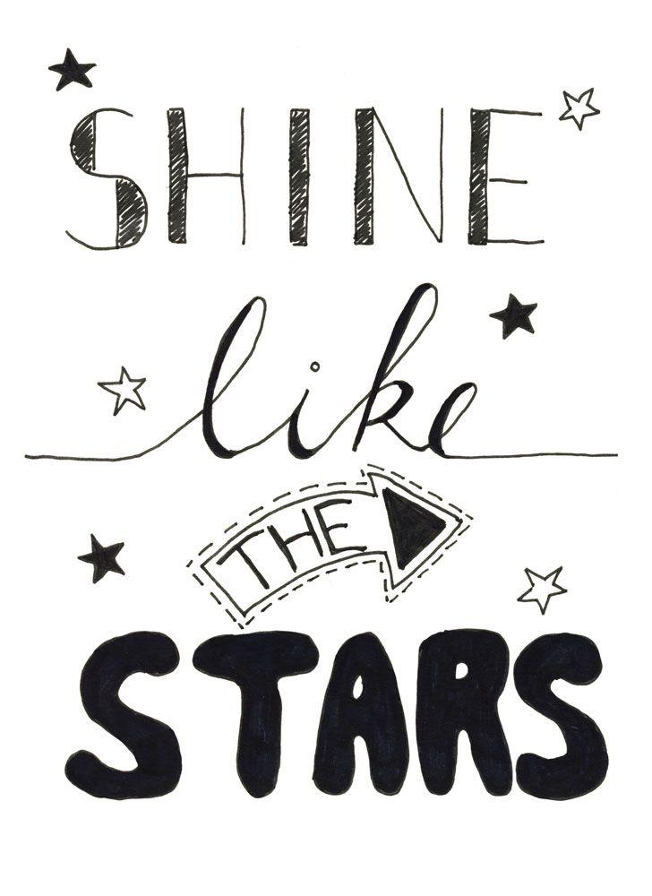Shine Like The Stars handletteren bij Sterrig