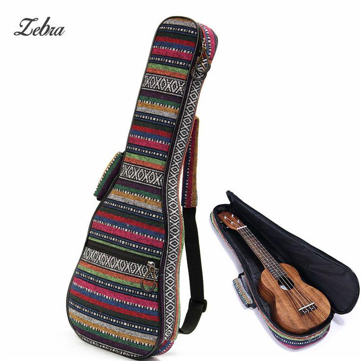 Zebra 21 Inch Cotton+Nylon Soft Padded Portable Guitar Gig Bag Ukulele Case Cover Backpack With Double Shoulder For Ukulele #Affiliate