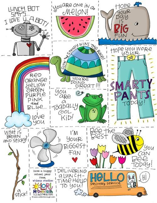 Lunchbox notes - FREE printable