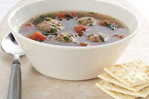 Yummy!! Hearty Meatball Spinach Soup Recipe I lost this recipe years ago and look!!! Yeah! They share it on their website for Nabisco. Can use kale also!