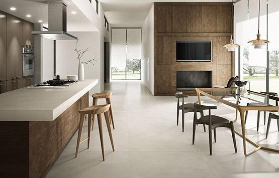 The high performance of high-tech porcelain stoneware is combined with the very particular look of resin to create HQ.RESIN, the new, extraordinary collection by FIANDRE, available in three maxi slab sizes: 300x100, 100x100 and 150x100.