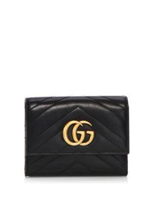 GUCCI Gg Marmont Matelassé Leather Wallet. #gucci #wallet