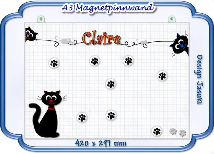 A3 Magnetpinnwand, freche Katzen von Jasuki auf DaWanda.com