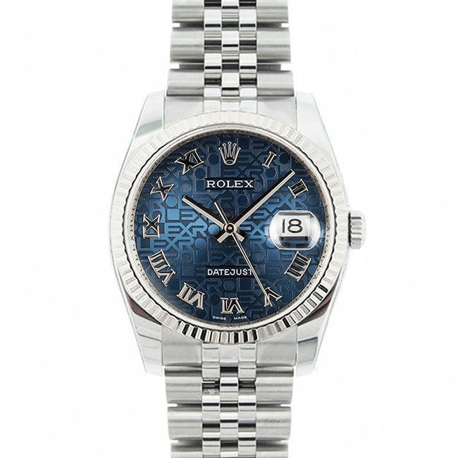 Refurbished Pre-owned Rolex Mid 2000's Model 116234 Men's Datejust Stainless Steel Jubilee Dial Watch