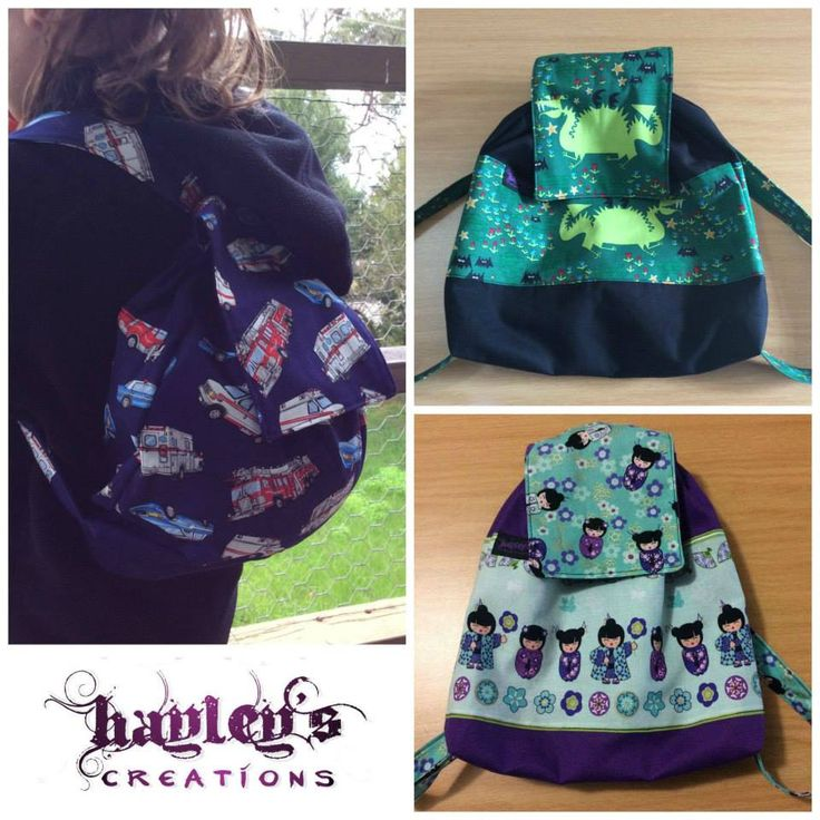 Handmade by Hayley's Creations  Children's Backpack