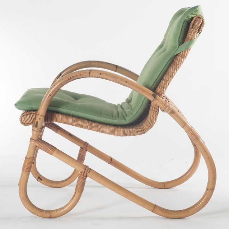 Anonymous; Bamboo and Rattan Chair by Korbwaren Steinberg, 1950s.