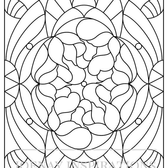 126 best uncolored printable pages images on pinterest Coloring book for adults stress relieving stained glass