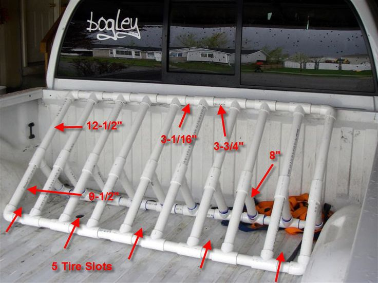 Bike rack for pickup truck