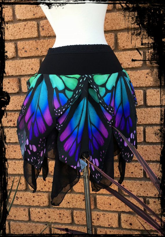Butterfly Wing Mini Pixie Skirt Custom made to by annaladymoon