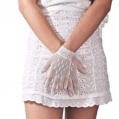 Bridal Open Work Short Gloves - Guanti Per Sposa Corti Traforati