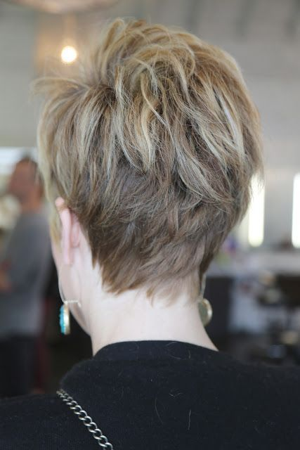 Pretty neckline on short hair. The back of hair pics are soooo hard to find!