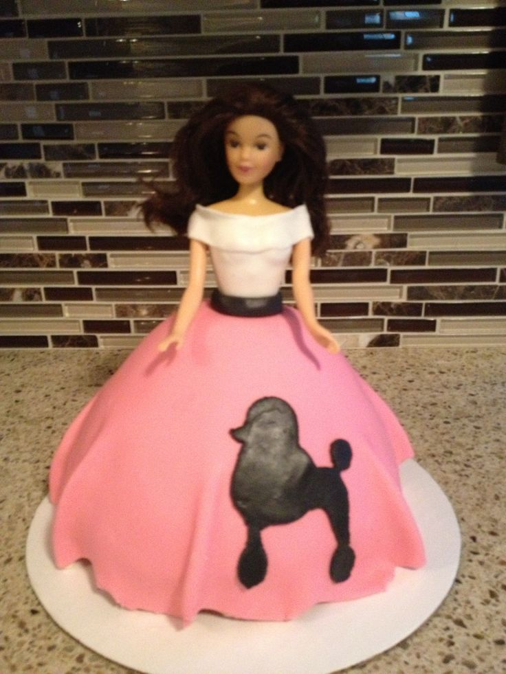 My first Barbie doll cake