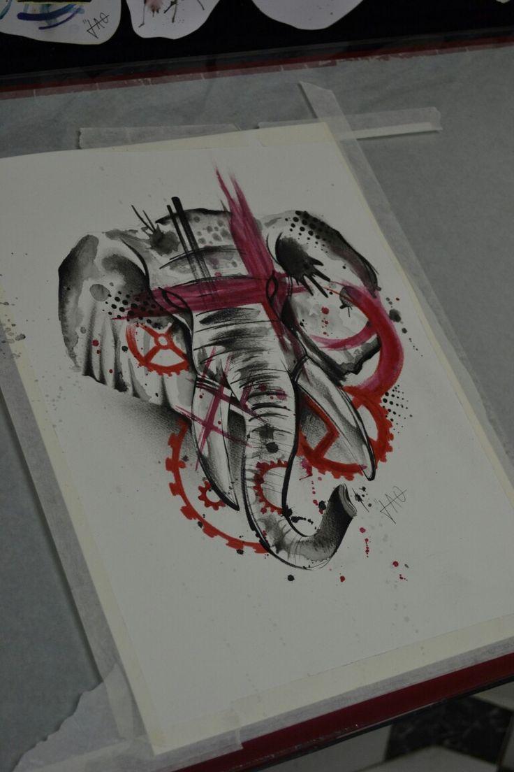 Elefante Elephant watercolour trash polka aquarela watercolour watercolor